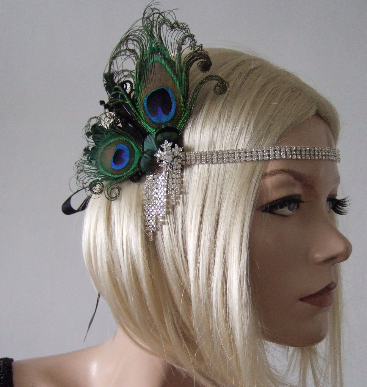 Peacock Feathers And Crystal Flapper 1920 S Art Deco