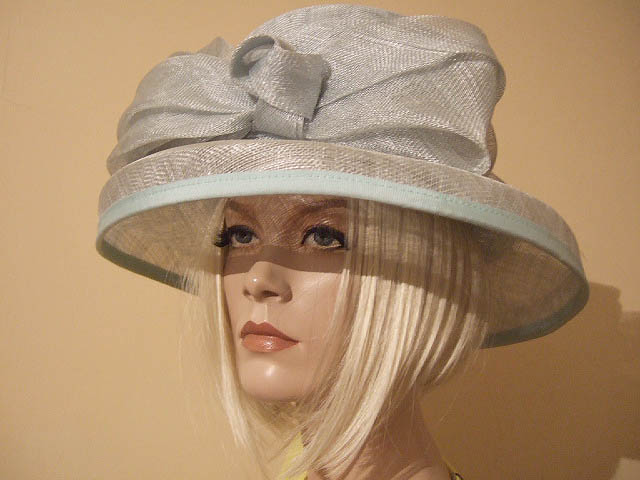 Blue Windsmoor Sinamay Hat For Ascot, Mother Of The Bride